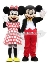 Pretty Female Mickey and Minnie Mouse Disney Costume