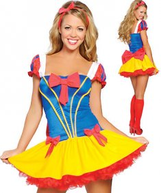 Classic Princess Snow White Fancy Ball Party Dress