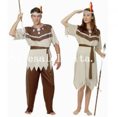 Halloween Couple Indian Cosplay Costume