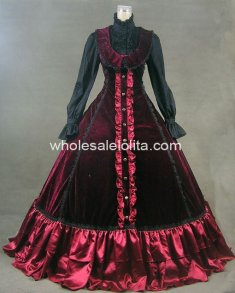 New Victorian Gothic Lolita Dress Ball Gown Prom Steampunk