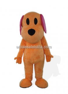 Oragne Plush Dog Mascot Costume