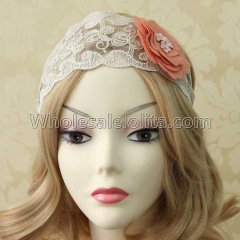 Vintage Wide-brimmed Lace Headband Masquerade Accessories