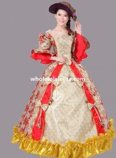 Historical Marie Antoinette Theme Party Dress Ball Gown Theatre Clothing