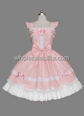 Likable Cheap Multilayer Pink Cotton Sweet Lolita Dress