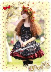 Elegant Rural Style Sweet Floral Lolita Dress