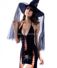 Sexy Adult Spider Witch Halloween Costume Masquerade Party Dress