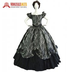 High Quality Southern Belle Victorian Princess Dress Dark Queen Ball Gown Reenactment Theatre Women Costume
