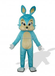 Blue Adult Easter Bunny Costume