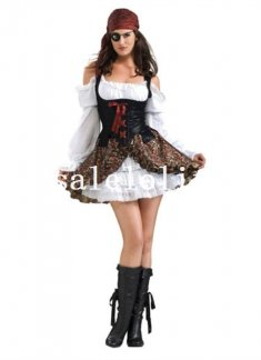 Cool Pirates of the Caribbean Captain Jack Women Halloween Costume