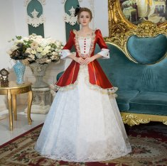 Cheap 18th Century Drama Theater Court Dress