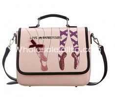 Sweet Ballet Print Nude Pink Lolita Girls Bag