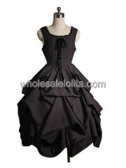 Beautiful Cheap Black Lace Cotton Sweet Lolita Dress