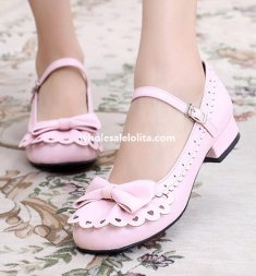 Sweet Bow Falbala Ladies Classic Lolita Shoes
