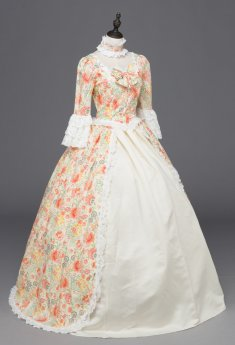 Colonial Renaissance Period Victorian Dress Ball Gown Theatre Costume