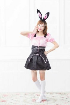 Cute Bunnies Maid Outfits Party Stage Costume