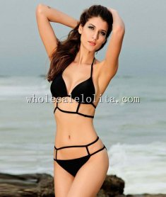 2014 Summer Beach Hollow Out Bandage Sexy Bikini Set