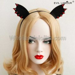 Black Bat Ear Halloween Party Headband Masquerade Accessories