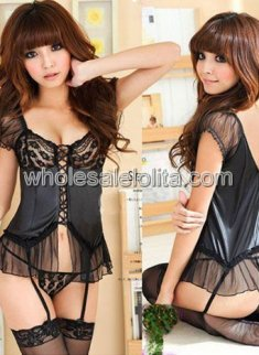 new New Fashion Black Sexy Bustier Set