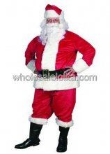 Traditional Plush Santa Claus Costume Discounted