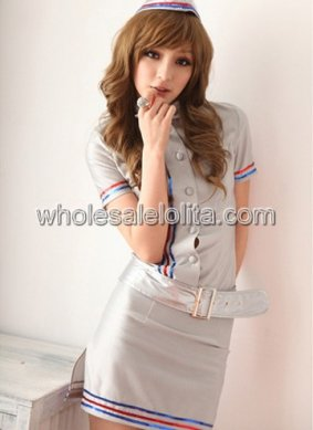 Halloween Airline Flight Attendant Uniform for Women