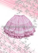 Pink Bow Dot Cotton Lolita Skirt