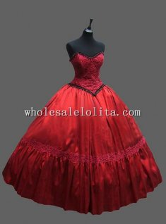 Gothic Red Europe Royal Court CARNIVAL OF VENICE Masquerade Costume