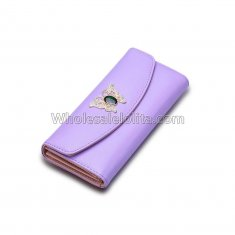 Luxury Clutch Designer Famous Brand Women's Purse Female Bag Ladies Women Wallet Money Carteras Walet Leather Card Holder Cuzdan Purple