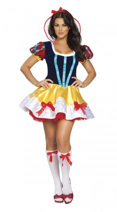 Halloween Role Play Snow White Princess Costume