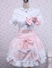 Top Sale Pink and White Cotton Sweet Lolita Dress