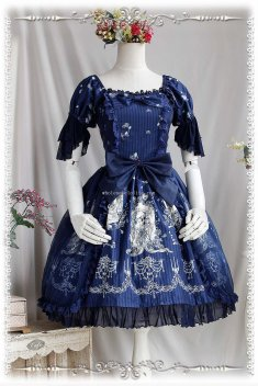 Infanta TANGLED Printing Sweet Lolita Dress OP