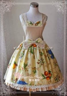 Magic Tea Party Autumn Harvest Fruit Printing JSK Lolita