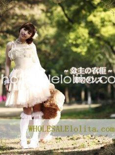 Noble Princess Champagne Chiffon Layered Skirt JSK Lolita Dress