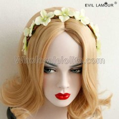 Stage Party Rattan Flowers Headband Masquerade Accessories
