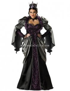 Gothic Adult Queen Vampire Halloween Costume Fancy Ball Dress for Women