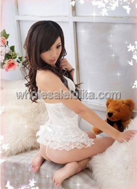 Seductive White Bridal Babydoll new