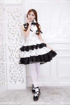 China Cheongsam Style Cosplay Dining Coffe Costume