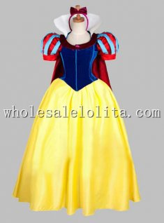 Short Sleeves Disney Cosplay Snow White Princess Adult Costume