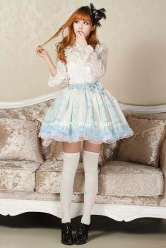 Angelic Pretty Light Blue Canary Lolita Kawaii Skirt