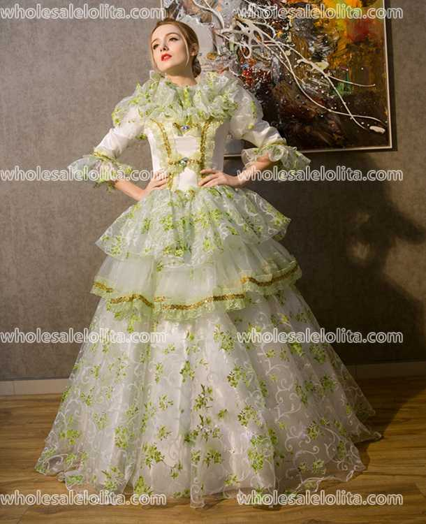 18th Century Marie Antoinette Inspired Dress Rococo Style Gown ...
