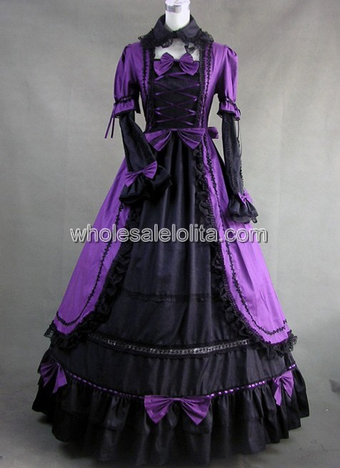 Gothic Dess | Victorian Prom Dress | Halloween Masquerade Ball Gown ...