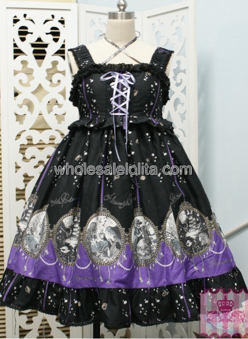 Sweet Sky Blue Sleeveless JSK Embroidery Lolita Dress