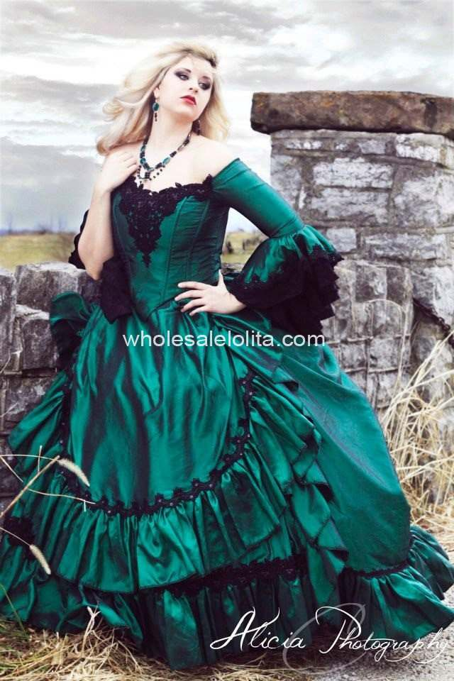 c19df4f2edd4 Gothic Victorian Steampunk Antoinette Fantasy Masquerade Gown Any Color or  Size