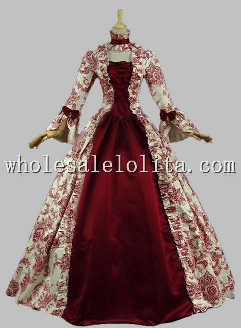 Victorian Gothic Period Dress   Masquerade Ball Gown  Reenactment ...