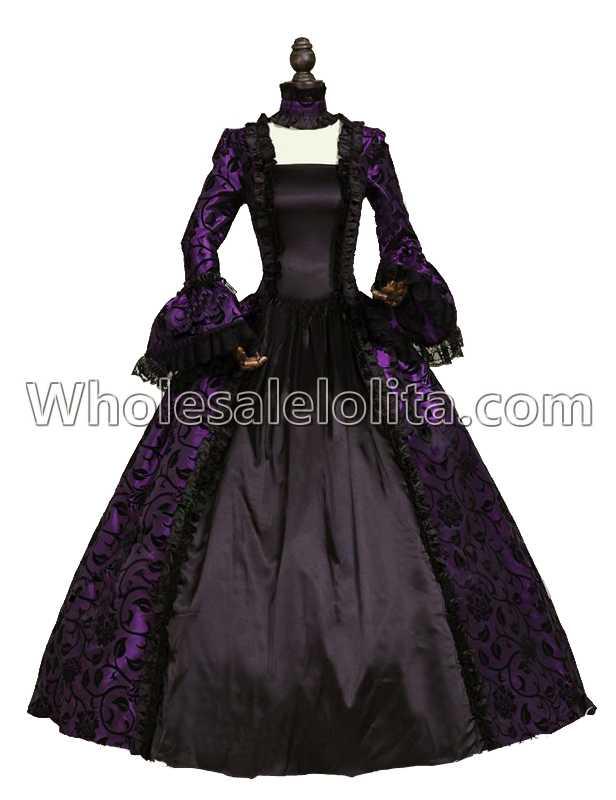 Purple Victorian Dress | Purple Gothic Dress | Purple Period Dress ...