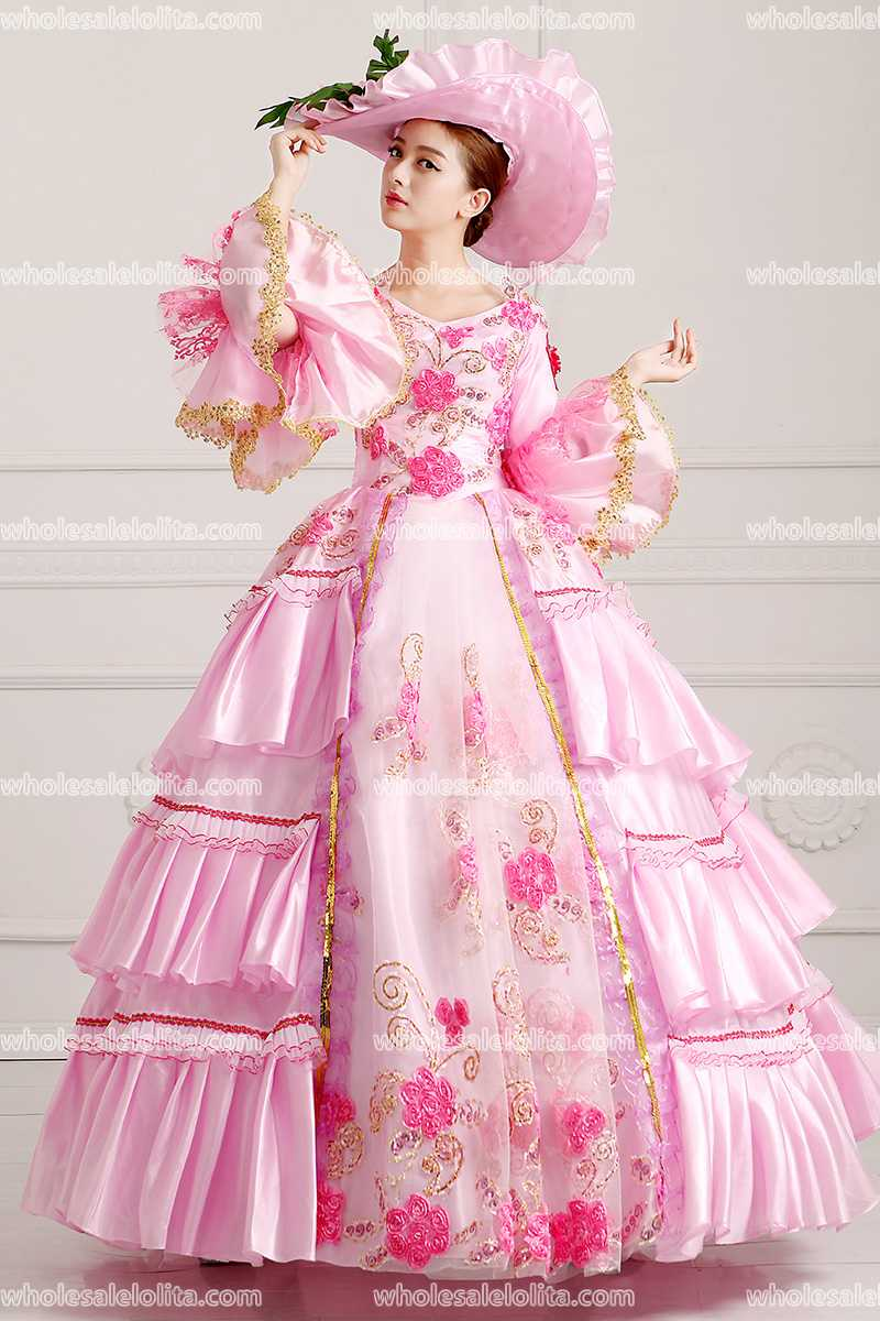 Rococo Style Marie Antoinette Inspired Prom Dress Wedding Ball Gown ...