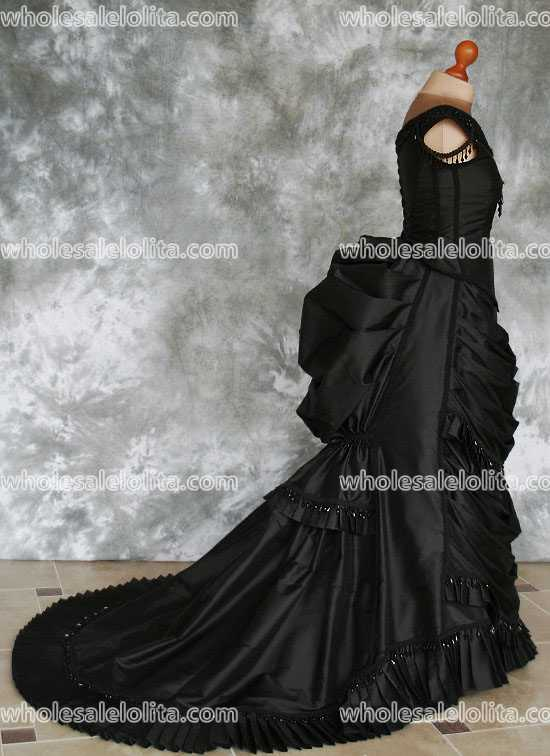 Gothic Victorian Bustle Gown With Train Vampire Ball Masquerade