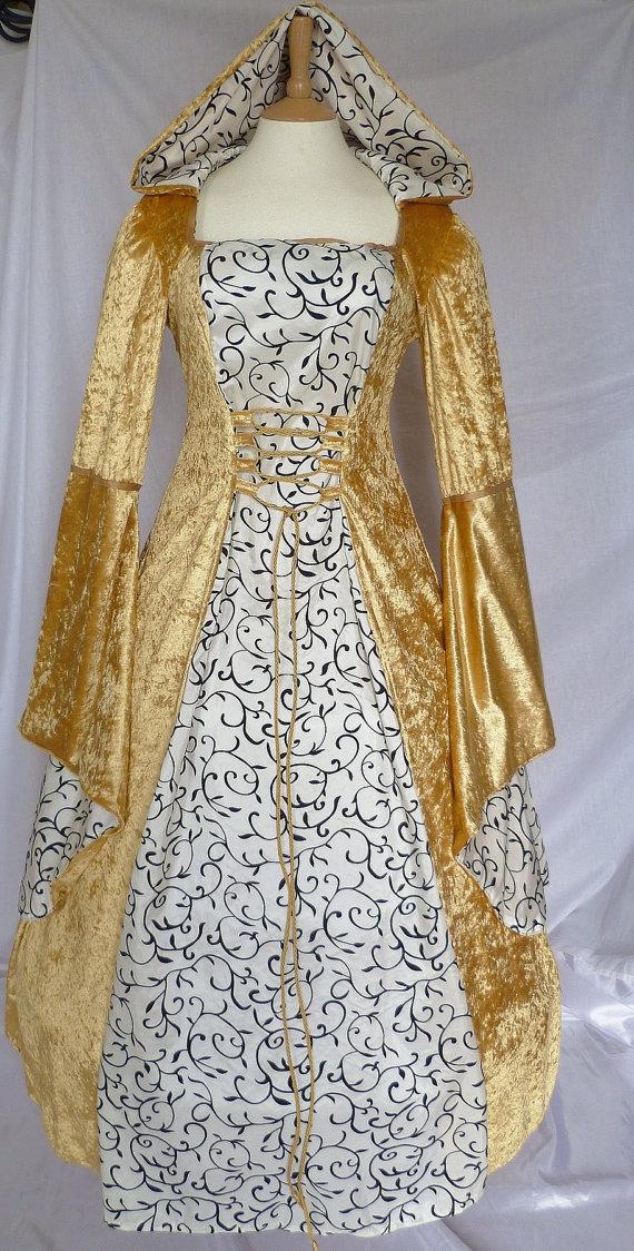 Gold Medieval Wedding Dress
