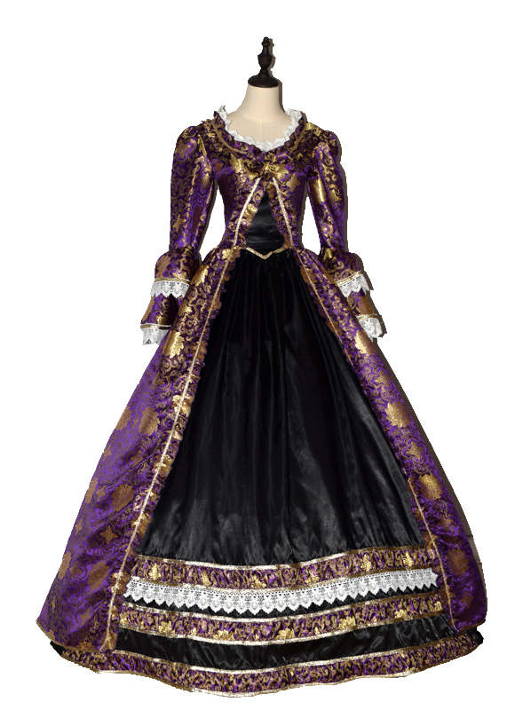 Renaissance Princess Colonial Period Floral Prom Dress Ball Gown ...